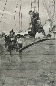 Illustration by Howard Pyle: Public domain.