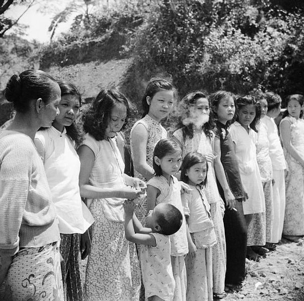 Chinese and Malaysian comfort women in 1945