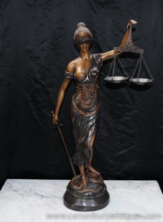 Lady Justice is totally asking for it.